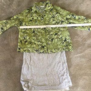Naturally Beautiful Fern Pattern Semi Sheer Jacket